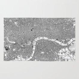 Vintage Map of London England (1862) BW Rug