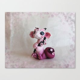 Cherry Blossom Dragon Canvas Print