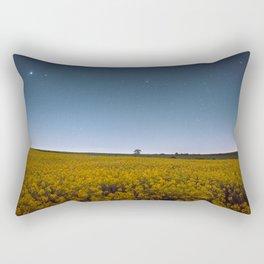 Starry Skies Over Canola Rectangular Pillow