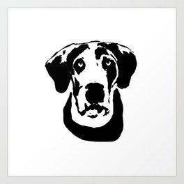 GREAT DANE DOG Art Print