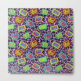 Sticker neonpard Metal Print