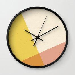 Minimalistic Geometric Intersection Wall Clock