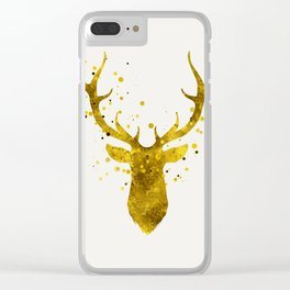 Gold Deer Clear iPhone Case