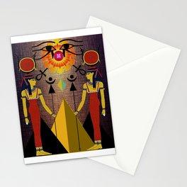 Hathor under the eyes of Ra -Egyptian Gods and Goddesses Stationery Cards