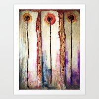 leah flores Art Prints featuring Flores by Jose Luis