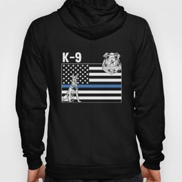 Thin Blue Line Police K 9 Family Appreciation American Flag Hoody