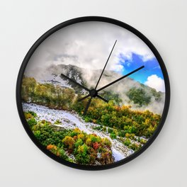 Autumn in Mountains Wall Clock
