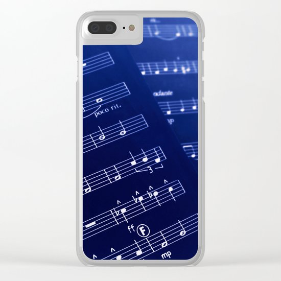 Inverted Music Score Clear iPhone Case