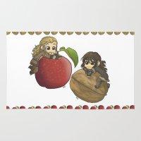kili Area & Throw Rugs featuring Apple&Walnut_Fili&Kili by AlyTheKitten