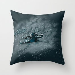 Snow Pow Throw Pillow