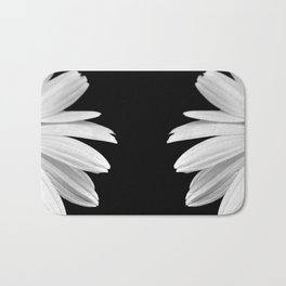 Half Daisy in Black and White Bath Mat
