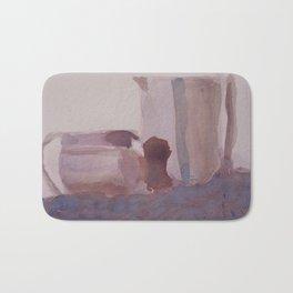 Monochrome Still Life Bath Mat