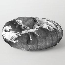 Sioux Indian Dolls Floor Pillow