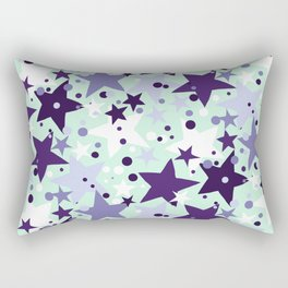 Fun pattern with stars and twinkle lights Rectangular Pillow