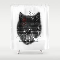 hunting Shower Curtains featuring Wicked Hunting by Gorix