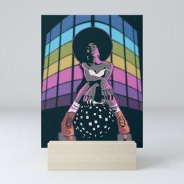 Retro Disco Roller Queen Mini Art Print