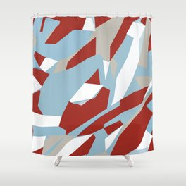 Hastings Zoom Red Shower Curtain