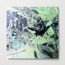 Pistachio Crystal Metal Print