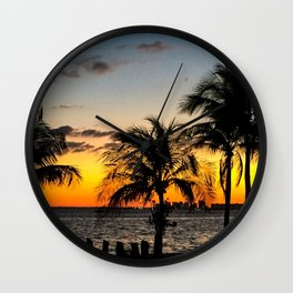 Miami Sunset Wall Clock