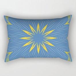 Yellow Sunbeam Mandala Rectangular Pillow