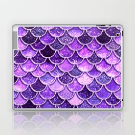 Pantone Ultra Violet Glitter Ombre Mermaid Scales Pattern Laptop & iPad Skin