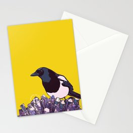 diamond hill magpie Stationery Cards