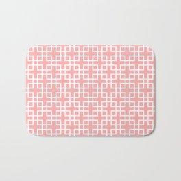 Square Overlay - rose pink Bath Mat