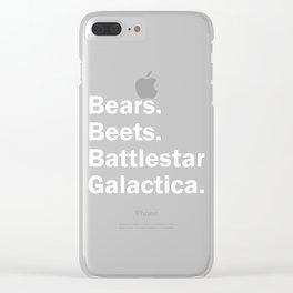 Bears Beets Battlestar Galactica Clear iPhone Case
