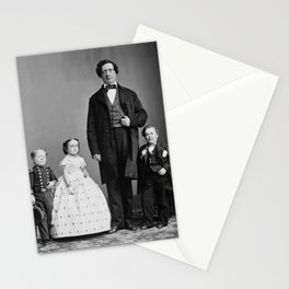 Tom Thumb and Lavinia Warren With Commodore Nutt - Circa 1860 Stationery Cards
