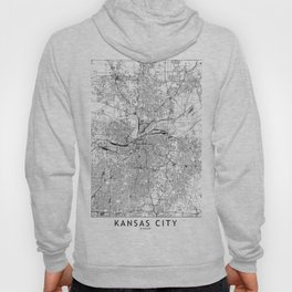Kansas City White Map Hoody