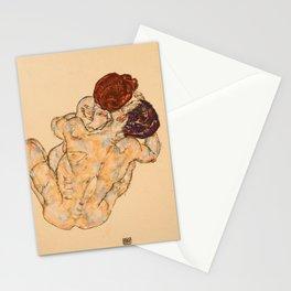 """Egon Schiele """"Mann und Frau (Umarmung)"""" Stationery Cards"""