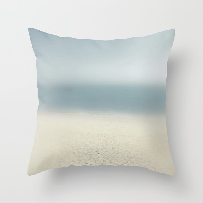 abstract prints on the sand Throw Pillow