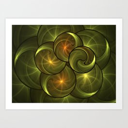 Fractal Positive Energy Art Print