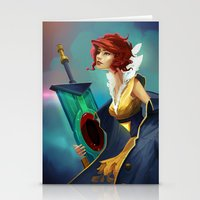 transistor Stationery Cards featuring Red and Luna by Leksotiger