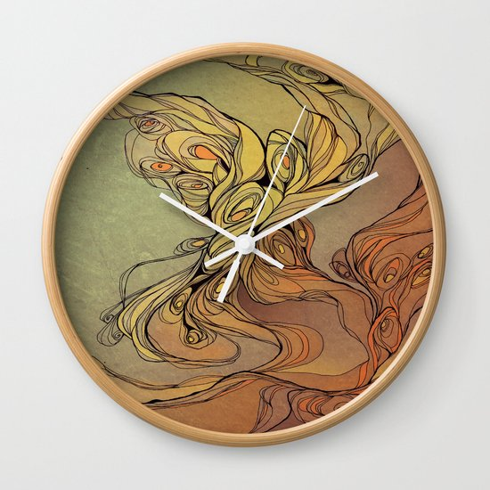 abstract floral composition 2 Wall Clock