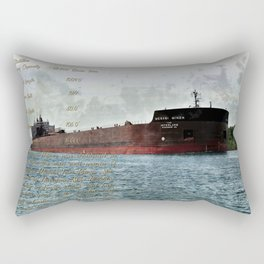 Mesabi Miner freighter and Stats Rectangular Pillow