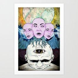 Behind the Shadow Art Print