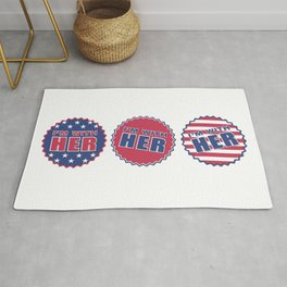 I'm With Her, Hillary Clinton 2016 Rug