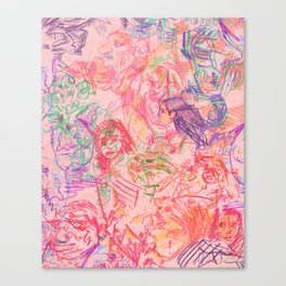 Labyrinth Doodles Canvas Print