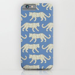 Kitty Parade - Mint on Denim Blue iPhone Case