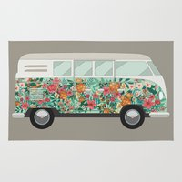 van Area & Throw Rugs featuring Hippie van by eARTh