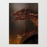 smaug Canvas Prints featuring Smaug by Arkarti