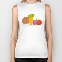 vegetables Biker Tanks featuring Vegetables by Jane Mathieu