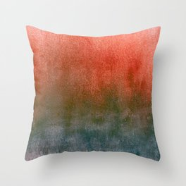 rusty teal watercolor Throw Pillow