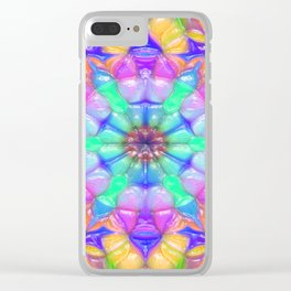 Colorful Concentric Reflections Clear iPhone Case