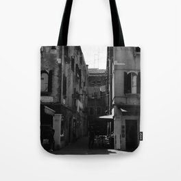 Calle Marcello b&w Tote Bag