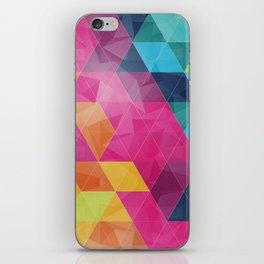 Fragmented folds iPhone Skin