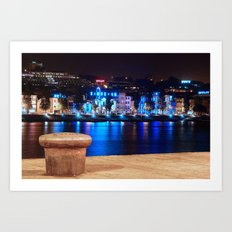 Oporto By Night Art Print