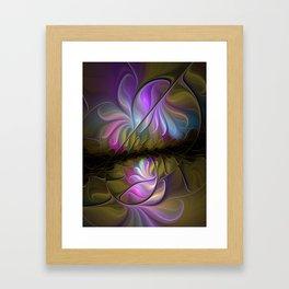 Come Together, Abstract Fractal Art Framed Art Print