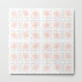 Simple checkered pattern 1 Metal Print